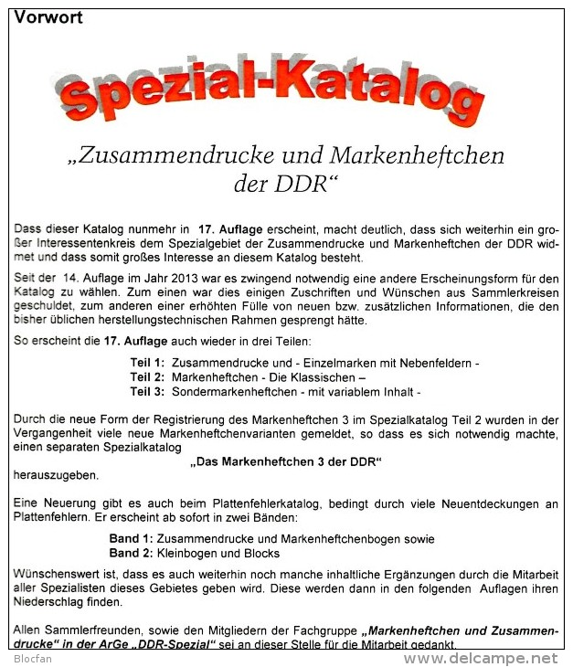 Zusammendruck DDR/GDR 2016 Part 1 RICHTER 25€ Katalog ZD Varianten Zierfeld Leerfeld Se-tenant Special Catalogue Germany - Colecciones