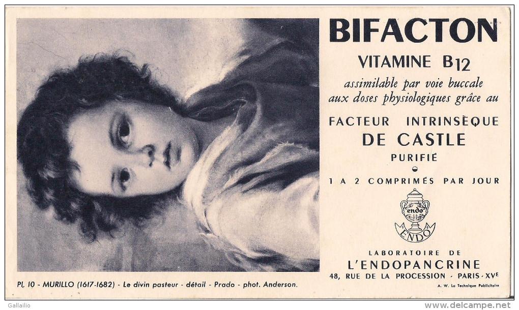 BUVARD BIFACTON LABORATOIRE DE L'ENDOPANCRINE MURILLO LE DIVIN PASTEUR - Buvards, Protège-cahiers Illustrés