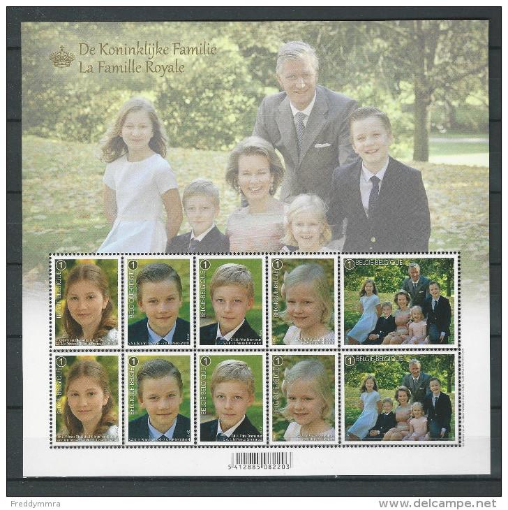 Belgique: F4569/73 **   BF La Famille Royale - Blocs 1962-....