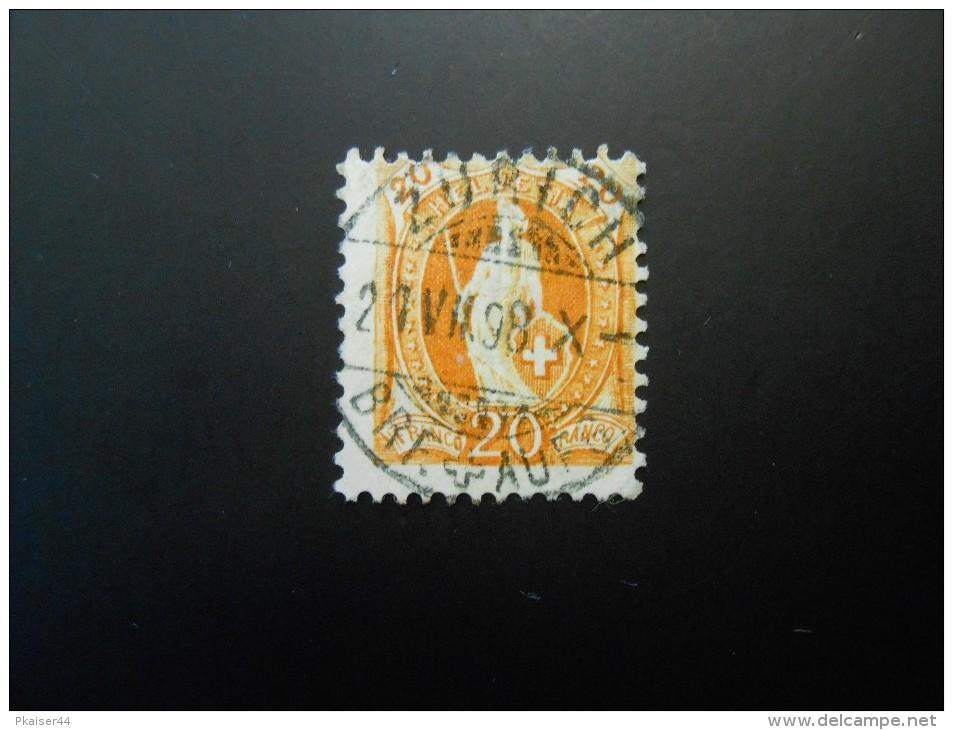CH ZNr.66D   20C  Kz Ll - Stehende Helvetia - 1894 - Gebraucht