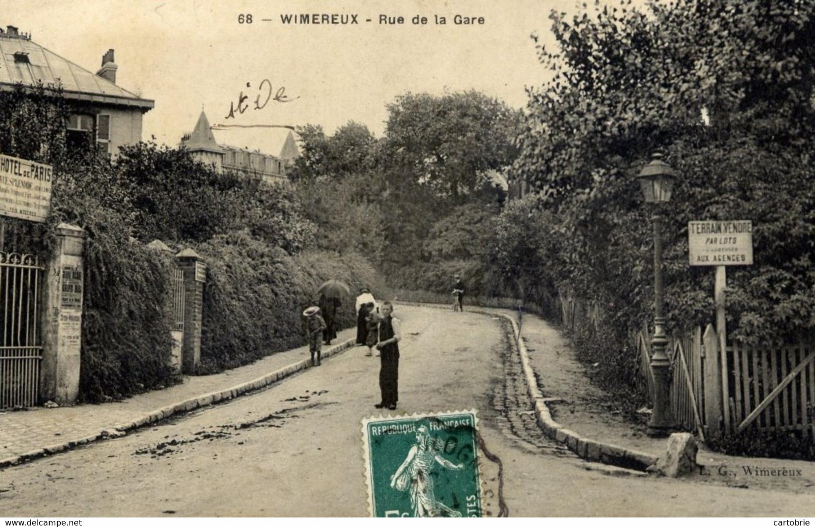 62 WIMEREUX  Rue De La Gare Animée Hotel De Paris - Autres Communes