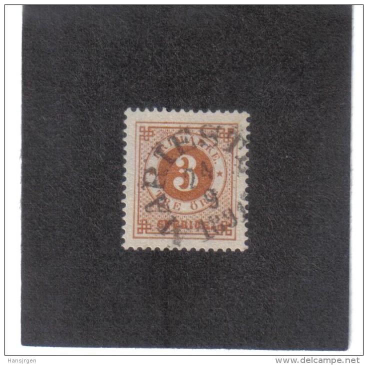 KPÖ709  SCHWEDEN  1886 Michl  30 Rückseitig Mit Blauen POSTHORN  Used / Gestempelt SIEHE ABBILDUNG - Schweden