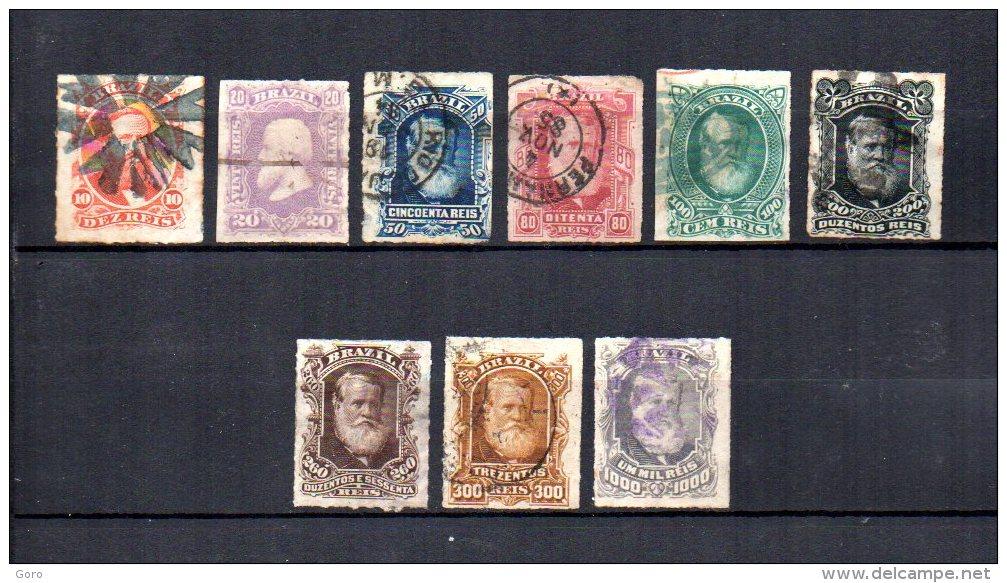 Brasil   1878-79  .-   Y&T  Nº   37/44 - 46 - Usados
