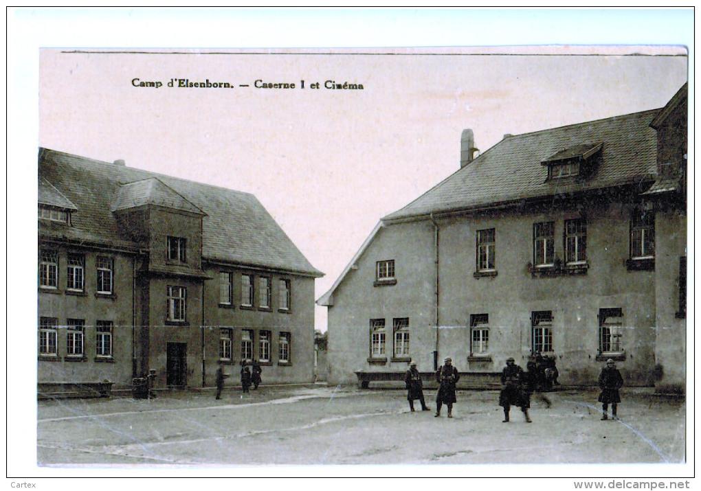 10279  Cpa  CAMP D'ELSENBORN ; Caserne 1 Et Cinéma  , Jolie Carte Photo !! - Elsenborn (camp)