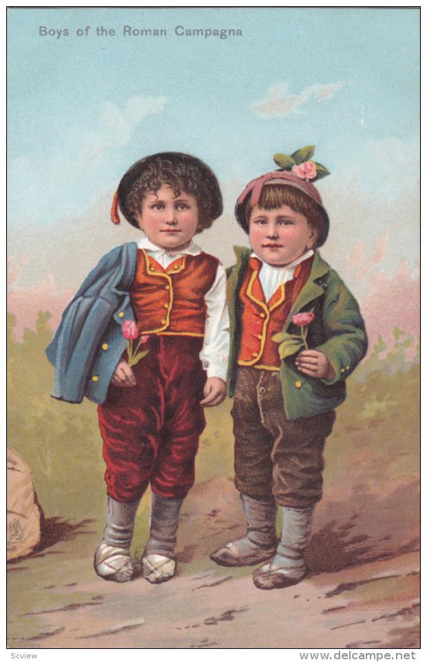 ROME , Italy , 00-10s ; Boys Of The Roman Campagna ; TUCK - Roma (Rome)