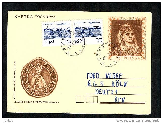 Poland Postal Stationery Postcard Used 1989 Przysieki (A484) - Stamped Stationery