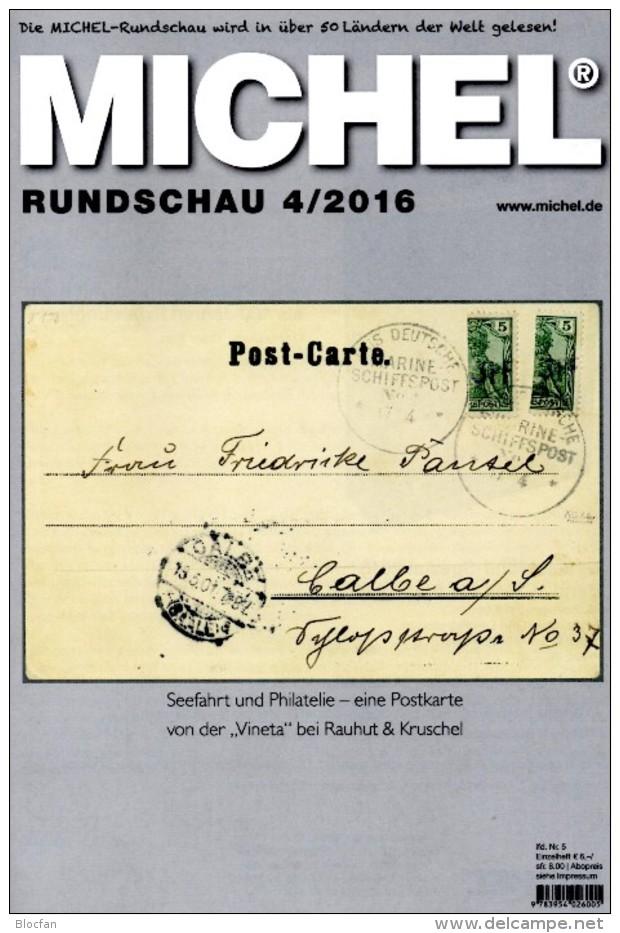 Briefmarken Rundschau MICHEL 4/2016 Neu 6€ New Stamps Of The World Catalogue/magacine Of Germany ISBN 978-3-95402-600-5 - Pin's