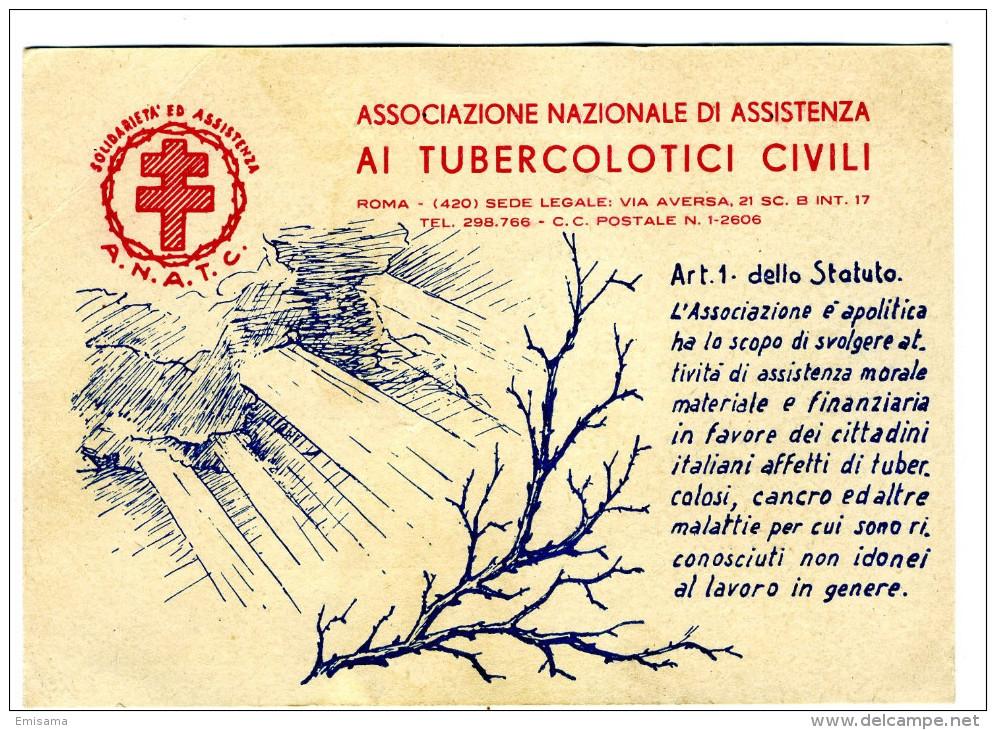 """Cartolina Pubblicitaria """"L'Eco Commerciale"""" Retro Associazione Tubercolotici Civili - Pubblicitari"""