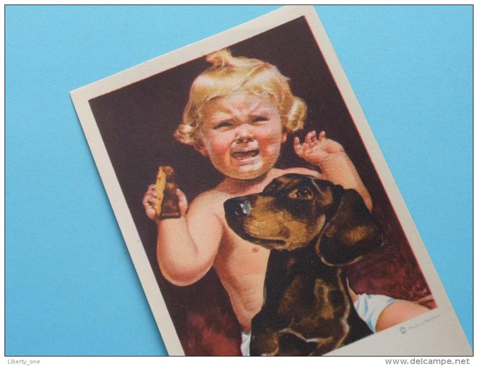 Huilend KIND Met Hond - N° 21084 Made In Belgium ( 9 X 14 Cm. - 12 Stuks / Zie Foto´s ) !! - Unclassified