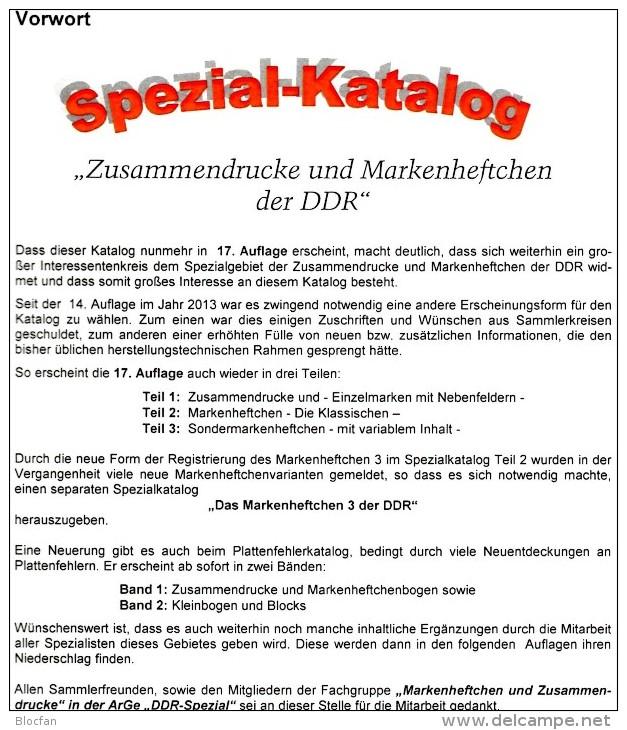 DDR Katalog #1 Zusammendrucke Plus #3 Sonder-Markenhefte 2016 Neu 50€ RICHTER Se-tenant+carnet Special Catalogue Germany - Material Und Zubehör