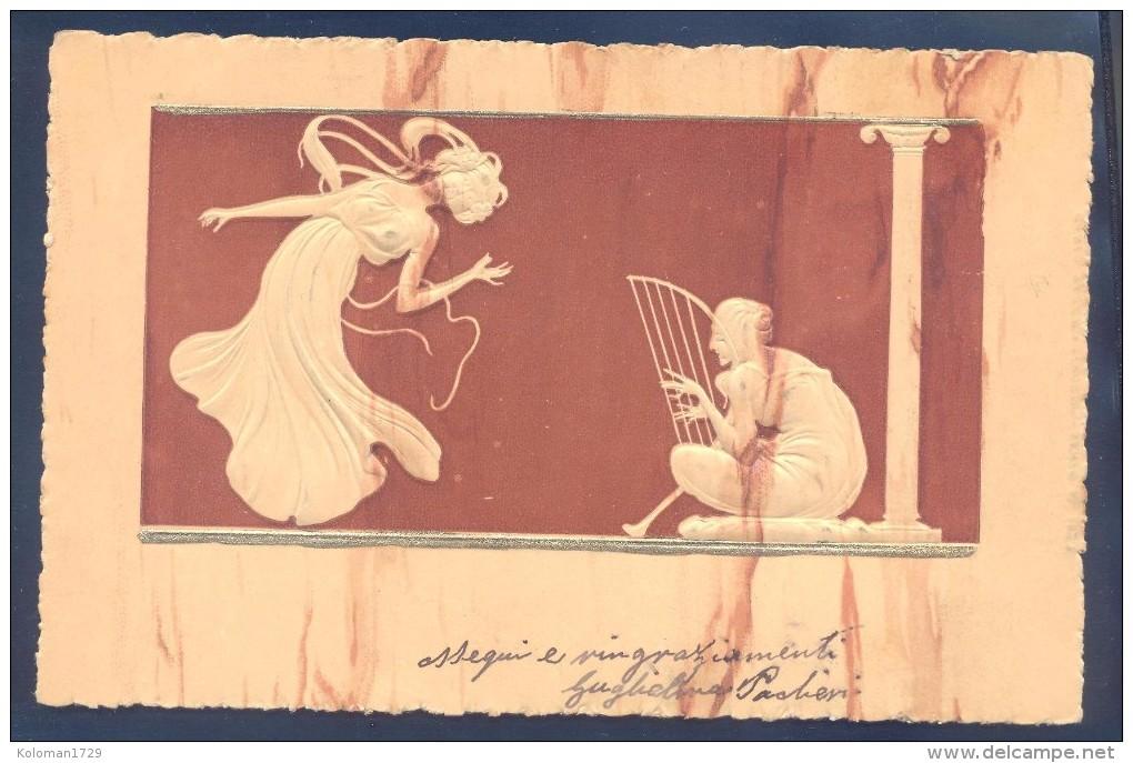 Art Nouveau - Raphael Kirchner - Ivoire Sculptè - Embossed - Kirchner, Raphael