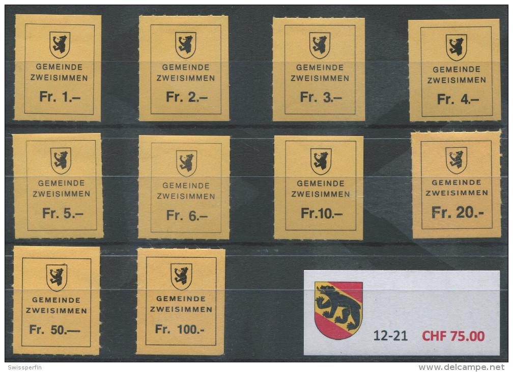 1394 - ZWEISIMMEN Fiskalmarken - Steuermarken