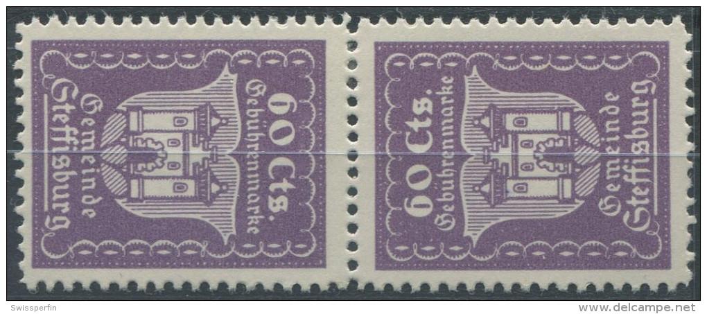 1403 - STEFFISBURG Fiskalmarke Im Kehrdruck - Steuermarken
