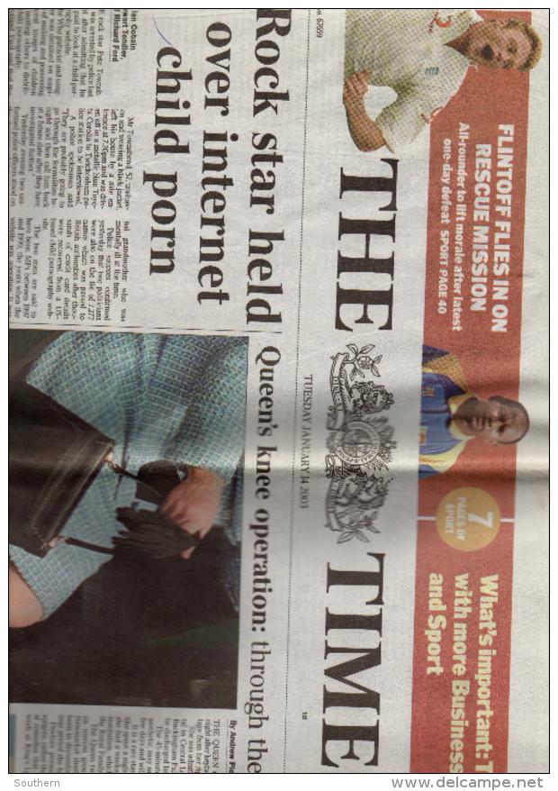 The Times 14/01/2003 - - Nouvelles/ Affaires Courantes
