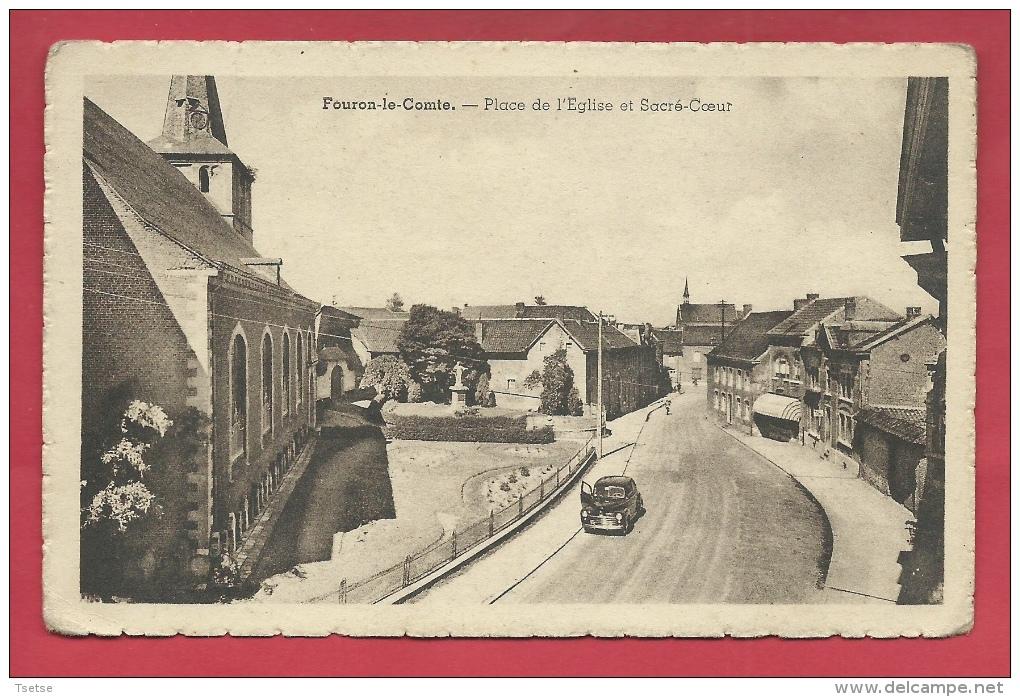 Voeren / Fouron-le-Comte - Place De L'Eglise Et Sacré-Coeur - 1953 ( Verso Zien ) - Voeren