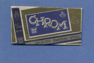 Une Lame De Rasoir  CHROM (Swedish)   (L62) - Lames De Rasoir