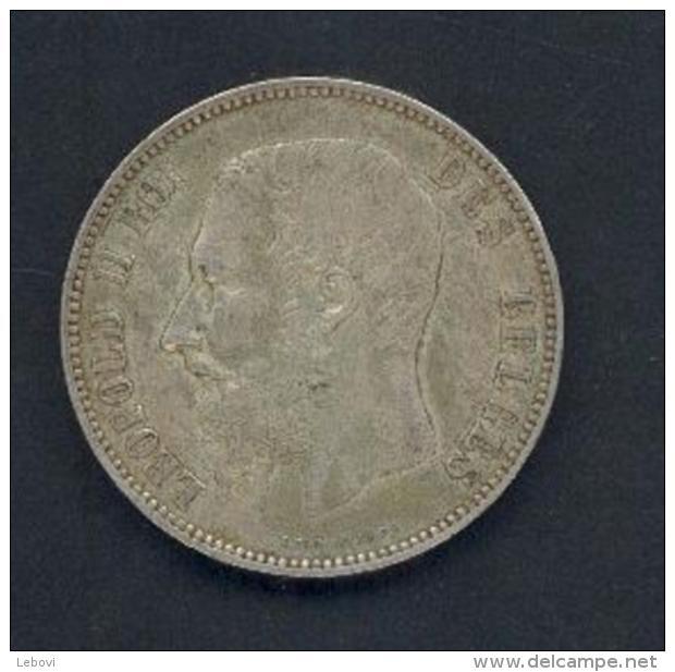 Belgique - LEOPOLD II - 5 FR 1873 - « PROTEGE » Moins Espacé - 09. 5 Franchi