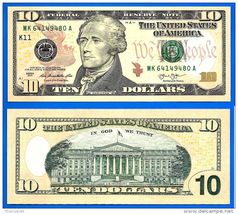 USA 10 Dollars 2013 Neuf UNC Mint Dallas K11 Suffixe A Etats Unis United States Dollar Skrill Paypal Bitcoin - Large Size - Groot (...-1928)