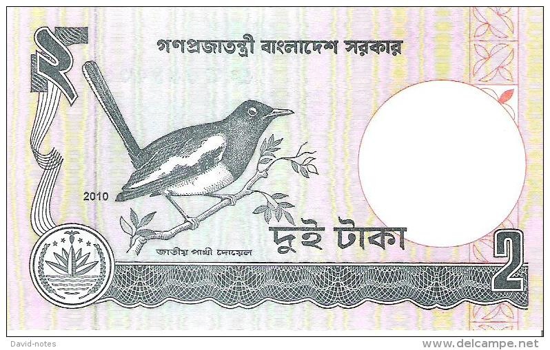 Bangladesh - Pick 6Cn - 2 Taka 2010 - Unc - Bangladesh