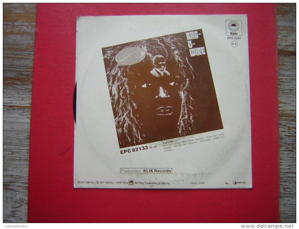 RARE 45 T   BAG WIRE  RESOVOIR  REGGAE POWER   EPIC  EPC 5340  1977 CBS - Reggae