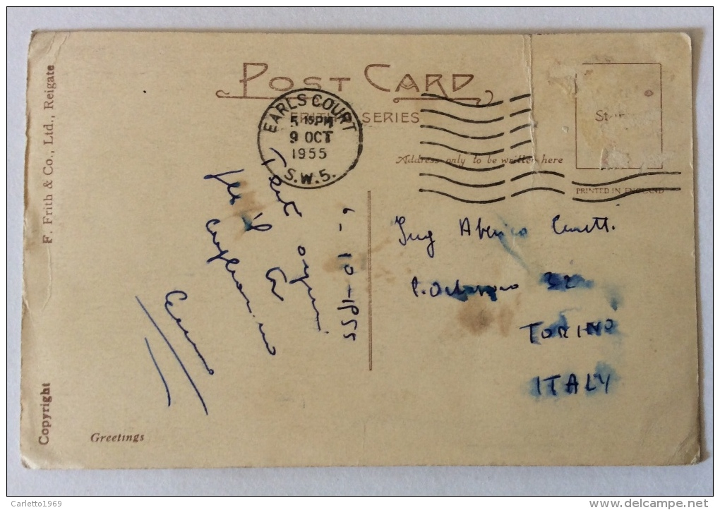 LINCOLN CATHEDRAL 1955 VIAGGIATA FP F.BOLLO ASPORTATO - Inghilterra