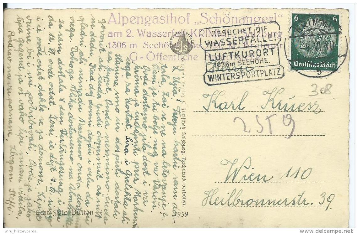 AK 0385  Krimmler Achental Mit Dreiherrenspitze Und Glockenkarkopf - Verlag Jurischek Um 1939 - Krimml