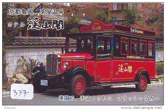 Télécarte JAPON * OLDTIMER * BUS (337)  Phonecard JAPAN * VOITURE * Auto * CAR * TELEFONKARTE * - Cars