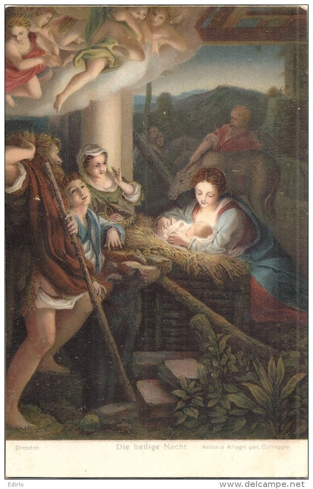 Painting By Correggio - Die Heilige Nacht . The Holy Night - Unused Excellent état/so Nice - Paintings