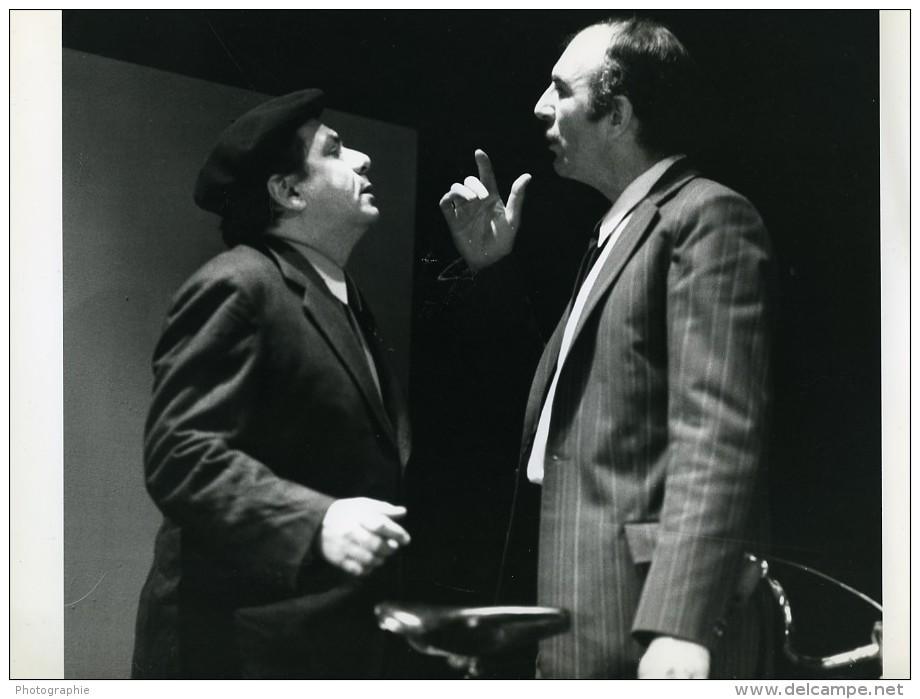 France Theatre Jean-Pierre Marielle Michel Galabru Les Poissons Rouges Ancienne Photo 1970 - Famous People