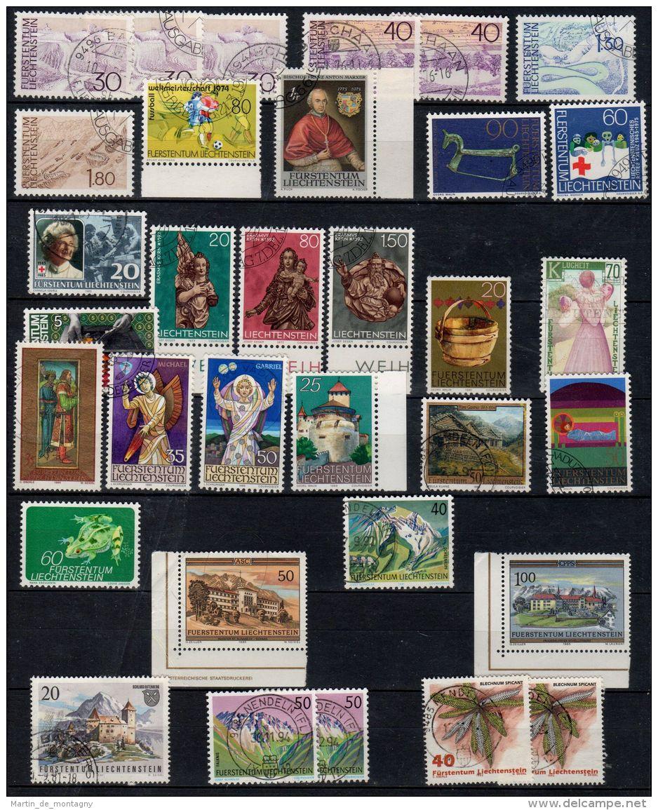 Liechtenstein Collection Des Timbres Oblitéré, Selon Scan, Lot 44908 - Liechtenstein