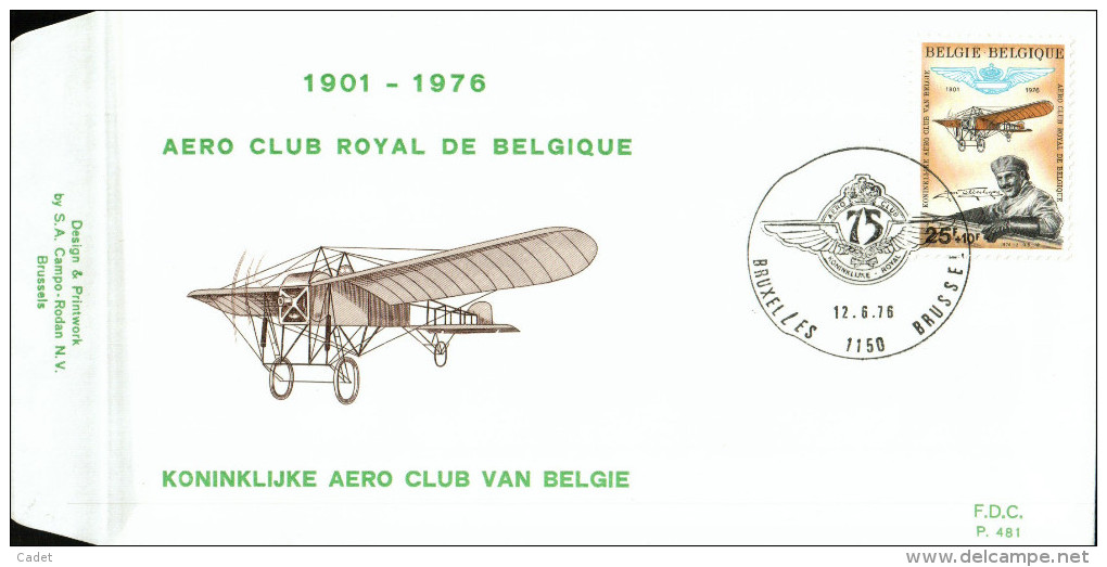 C.O.B. 1809   75 Ans Aéro Club Royale De Belgique. Jan Olieslagers Et Monoplan Blériot. - FDC