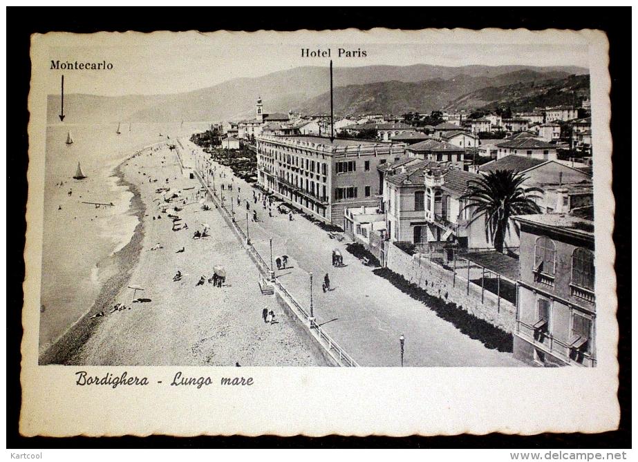Bordighera Hôtel Paris - CPA Imperia Liguria Italie Italia - Imperia