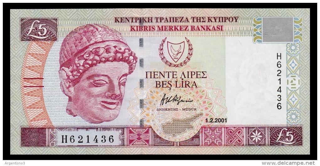 Cyprus 5 Pounds 2001 AUNC - Chypre
