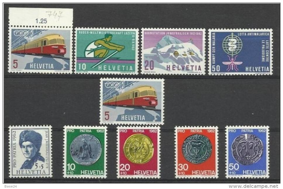 1962 Svizzera Switzerland PROPAGANDA + PRO PATRIA, 2 Serie (Yvert 689/97) MNH**+ N°689 Gratis - Pro Patria