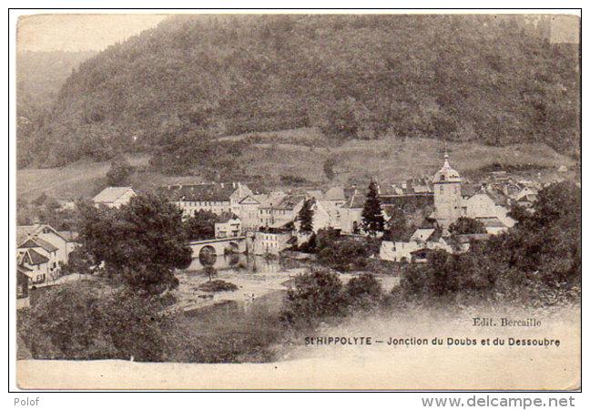 SAINT HIPPOLYTE - Jonction Du Doub Et Du Dessoubre    (86377) - Autres Communes