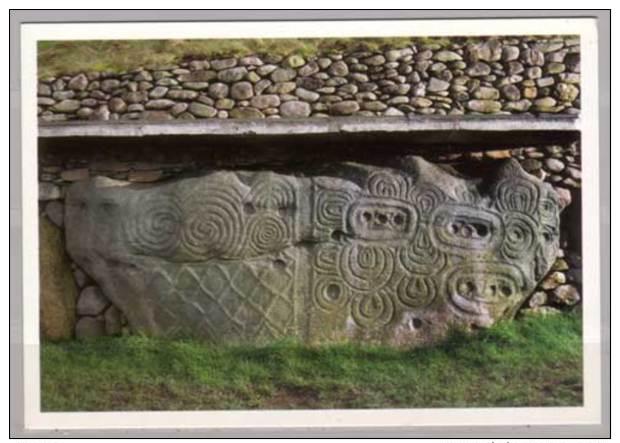 Newgrange , Bru Na Boinne , Co. Meath , Decorated Kerbstone At Back Of Mound - Meath