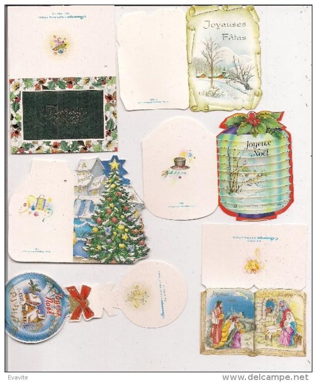 Saisons & Fêtes -  Joli Lot De 6 Images Ou Cartes Cadeau -  NOËL -  Nativité, Boule, Sapin - Autres