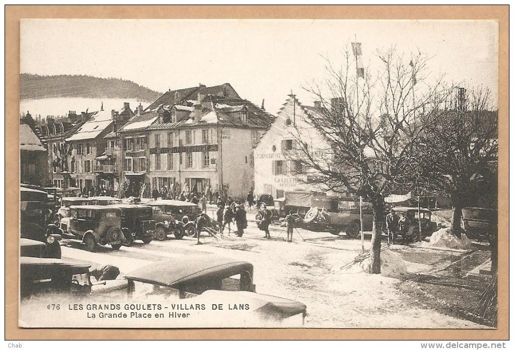 76. LES GRANDS GOULETS  - VILLARS De LANS - La Grande Place En Hiver - Trés Animée - Villard-de-Lans