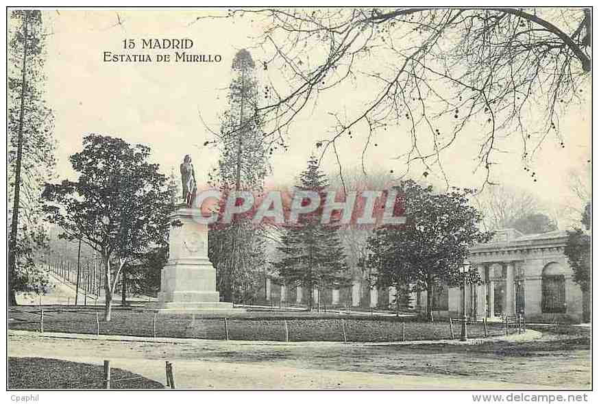 CPA Madrid Estatua De Murillo - Madrid
