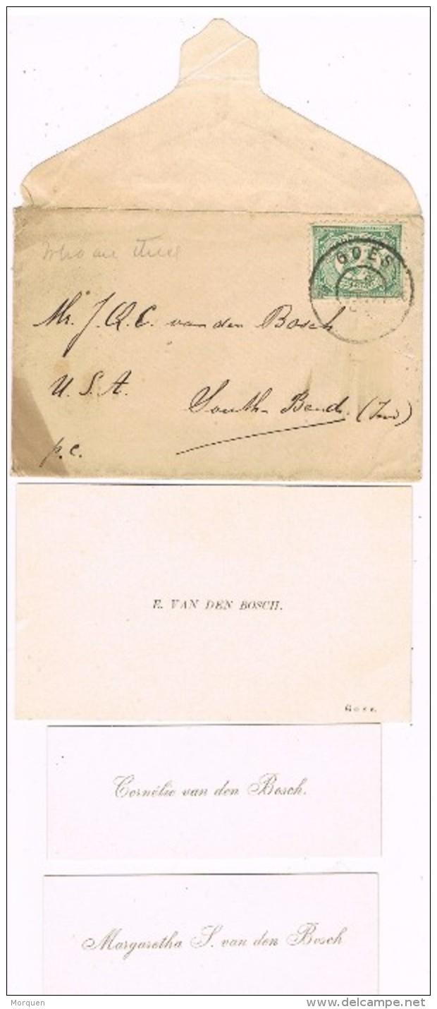 17560. Carta GOES (Nedeland) Holland 1906. Tarjeta De Visita - Periode 1891-1948 (Wilhelmina)