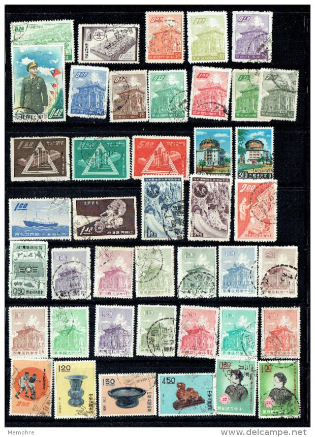 1970 - 1992   80  Timbres Commémoratifs  Oblitérés - 1945-... República De China
