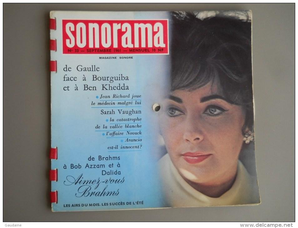 SONORAMA N° 33 SEPTEMBRE 1961 - BERLIN - DE GAULLE - FERNAND RAYNAUD - Formats Spéciaux