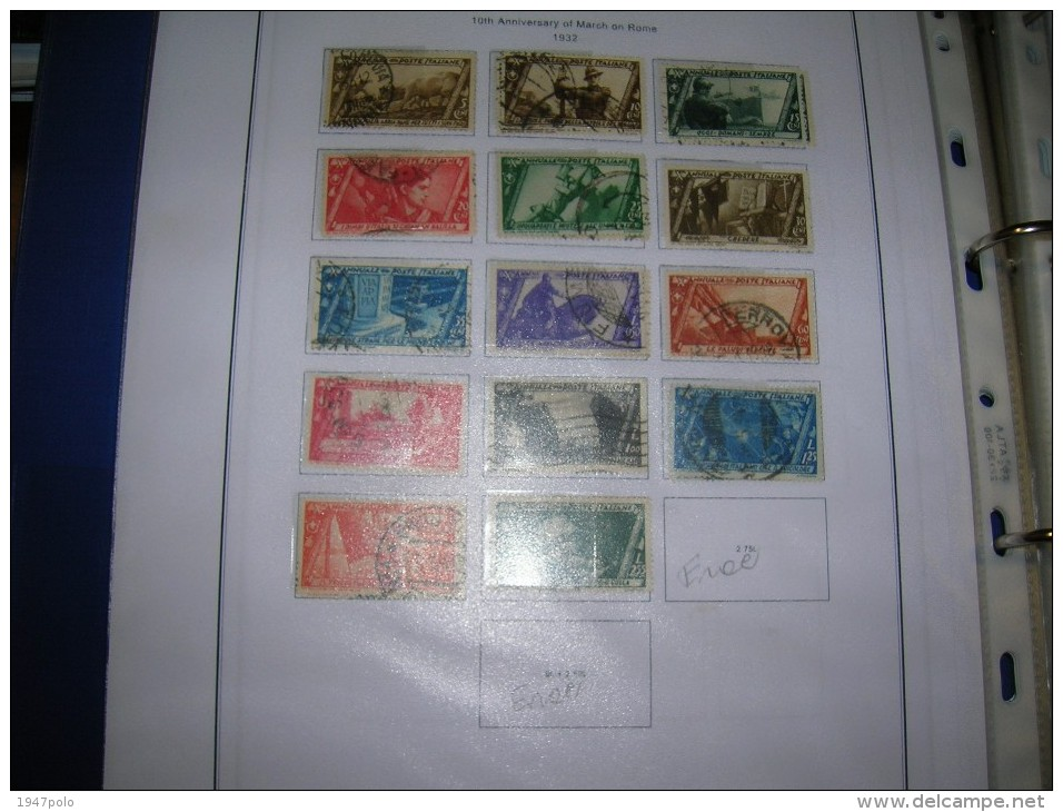 Italia Regno Good Collection 1862/1945 P.O.Stamps In Scott.Album See Report And Scans - Francobolli