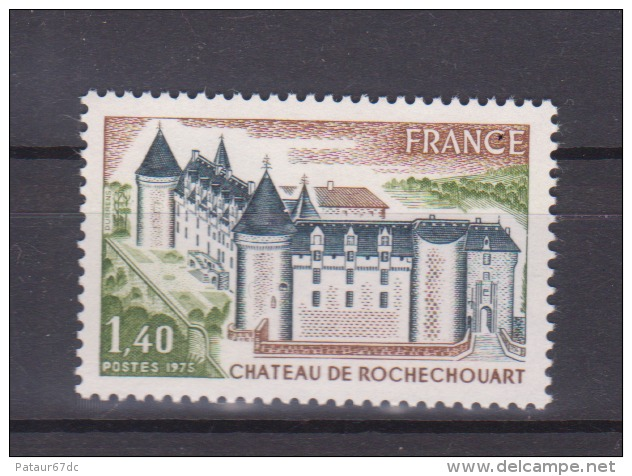 FRANCE / 1974 / Y&T N° 1809 ** : Château De Rochechouart - Gomme D'origine Intacte - France