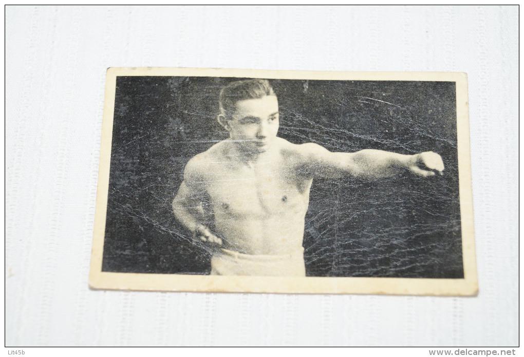 Boxeur,1930,Nicolas Petit-Biquet, Photo Carton Pour Collection,RARE - Boxe