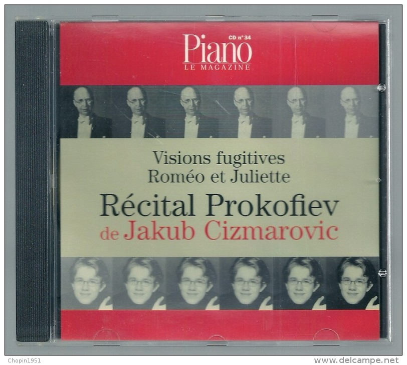 CD   -  RECITAL PROKOFIEV -  JAKUB CIZMAROVIC, Piano  (PIANO LE MAGAZINE) - Klassik
