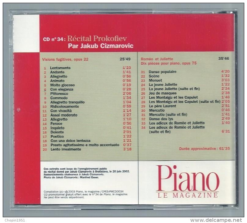 CD   -  RECITAL PROKOFIEV -  JAKUB CIZMAROVIC, Piano  (PIANO LE MAGAZINE) - Classique