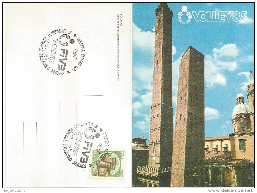 Bologna, 11.9.1985, Cartolina Ufficiale 3° Campionato Del Mondo Juniores Volley '85. - Volleyball