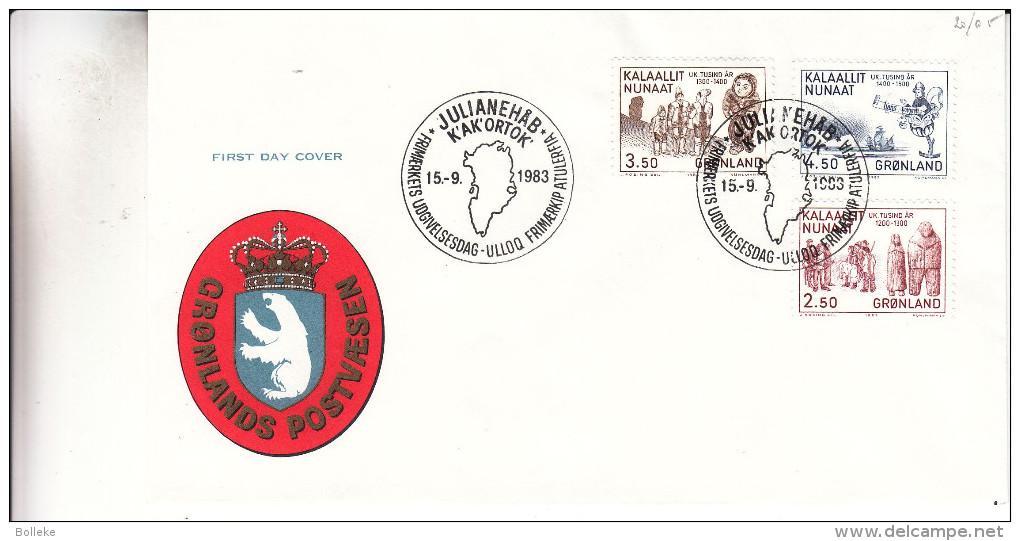 Groenland - Document De 1983 - Oblitération Julianehäb - Bateaux - Groenland