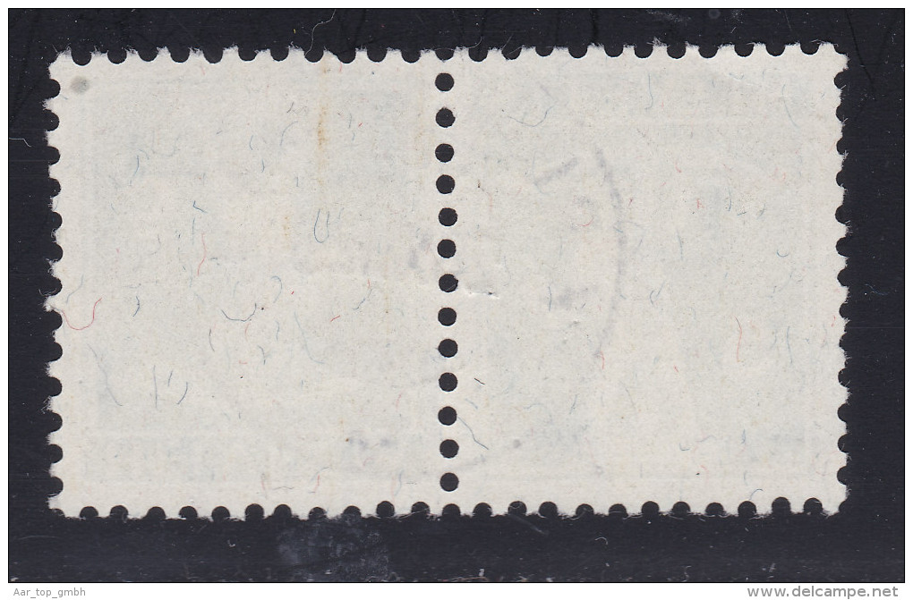 Schweiz Kehrdruck 1923-12-28 Zu II K7II (125II) Krummenau - Tête-Bêche